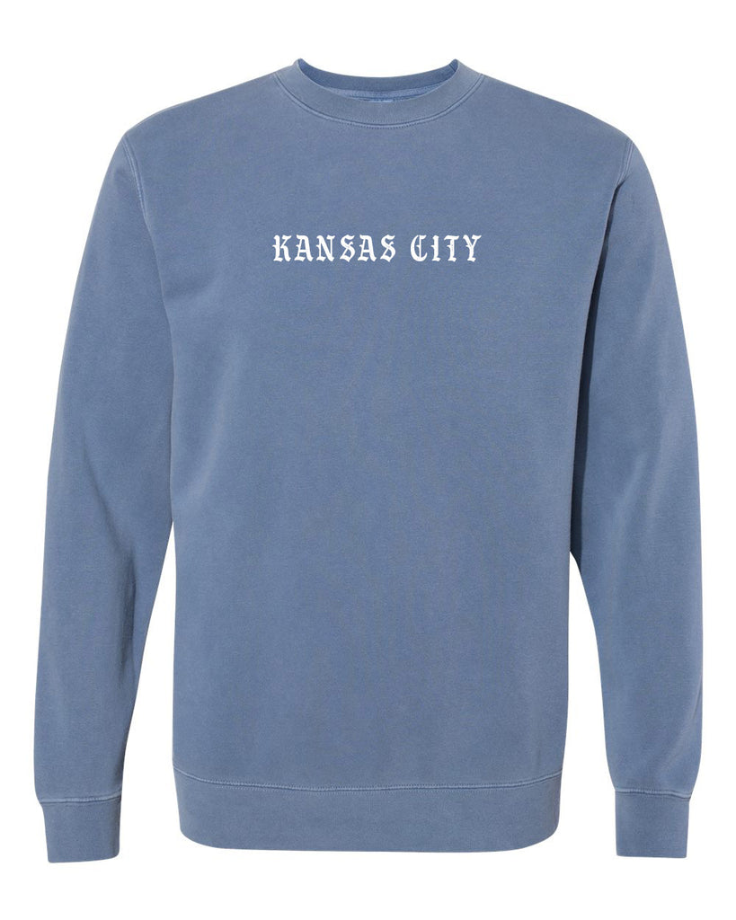 Old KC Font Crewneck (Slate Blue)