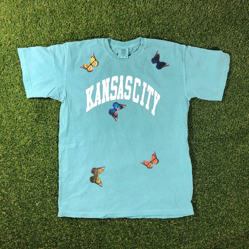 Kansas City Butterfly Arch T-Shirt (Summer Green)