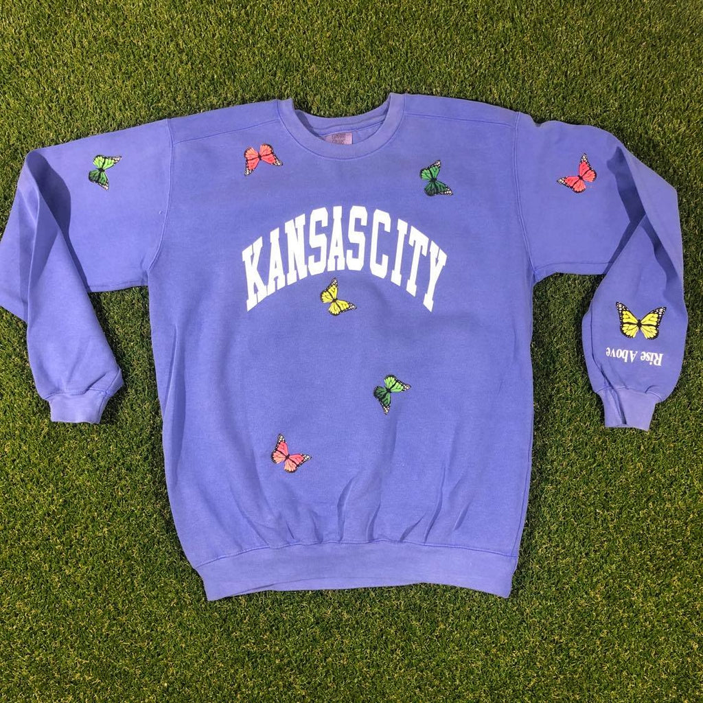 Kansas City Arch Butterfly Crewneck (Summer Blue)