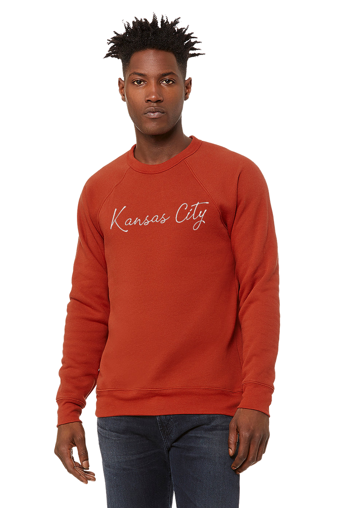 Kansas City Cursive Crewneck (Brick)