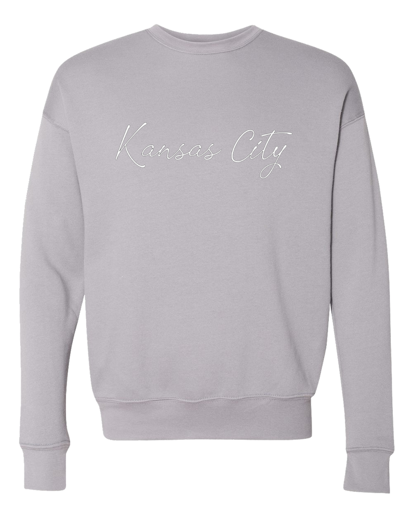 Kansas City Cursive Crewneck (Storm)