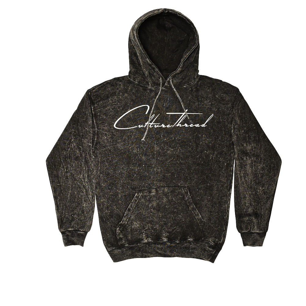 Culture Thread Mineral Wash Hoodie (Black)