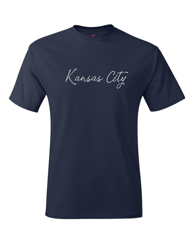 Kansas City Cursive Tee (Navy)