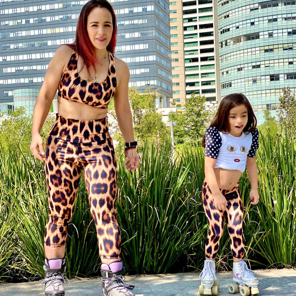 Top Matcha Leopardo Mujer