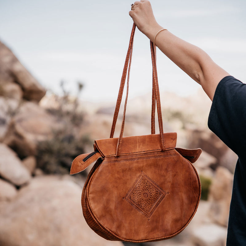 Moroccan Rustic Leather Bag