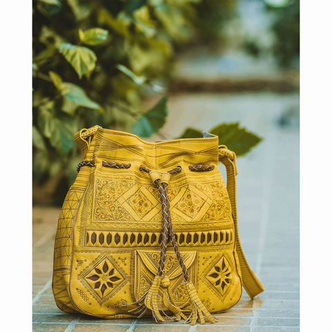 Moroccan Sunflower Bag Re-invented + Wallet