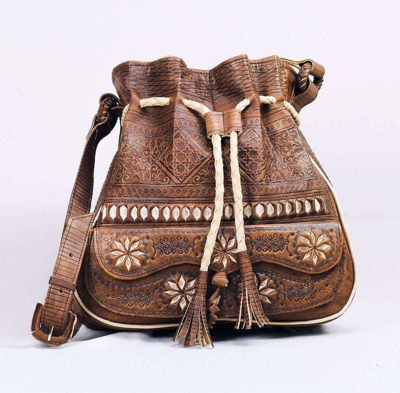 Moroccan Nordic Leather Bag (1483689066549)