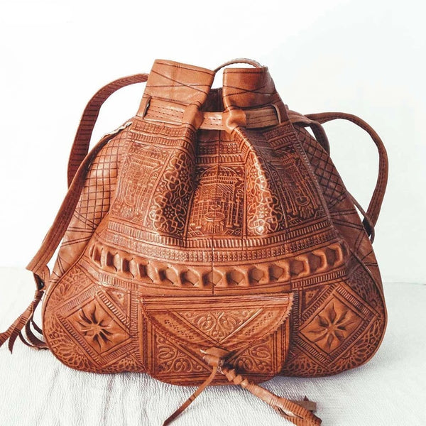 Genuine Leather Moroccan Shoulder Bag