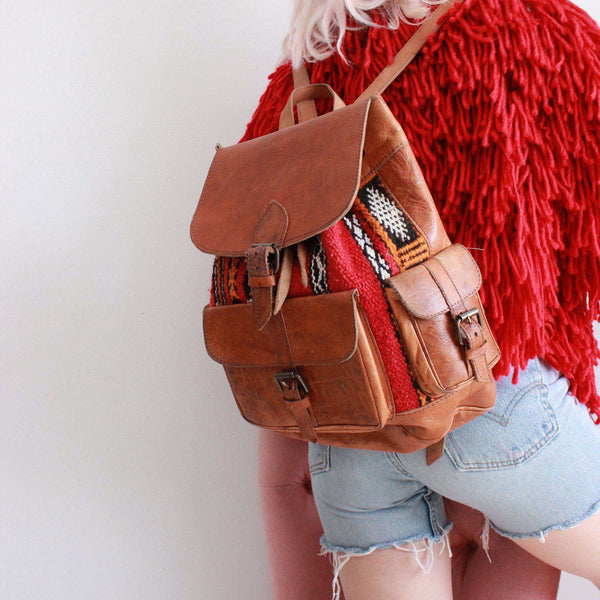 Moroccan Kilim Backpack