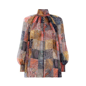 Amy Vintage Printed Blouse