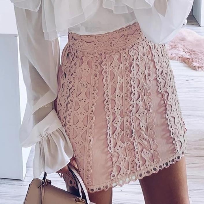 Saffron Embroidered Skirt