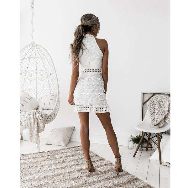 HOLLOW OUT LACE DRESS (1569051148341)