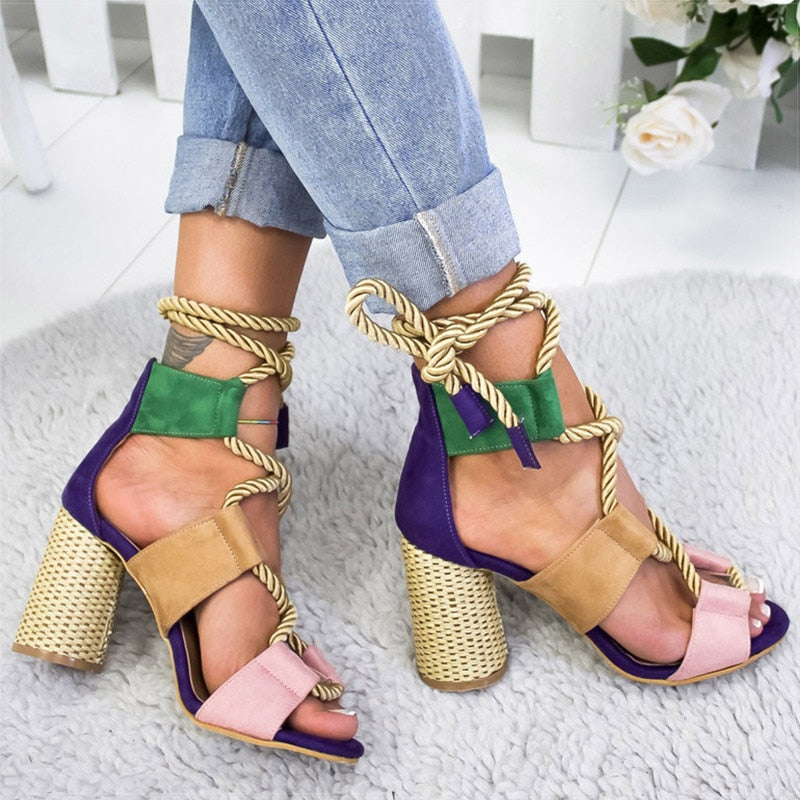 BohoGang Casual Lace Up Sandals (3814487851061)