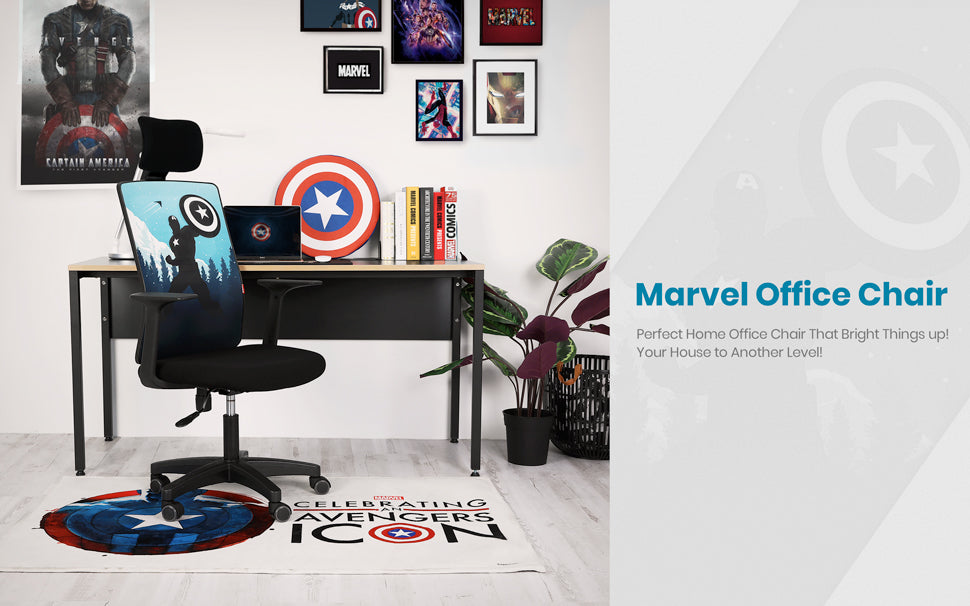 Marvel Avengers Office Chair Computer Desk Headrest Chair Gaming Ergonomic Mesh Ebay