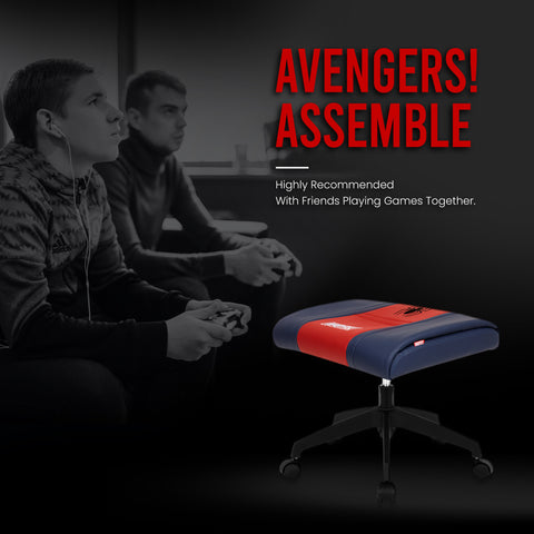 Marvel Gaming Stool with Wheels (Spider Man - Red)