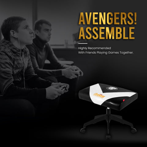 Marvel Gaming Stool with Wheels (Black Panther - White)