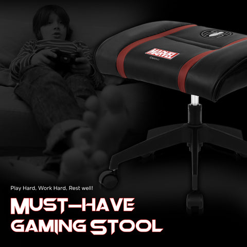 Marvel Gaming Stool with Wheels (Spider Man - Black)