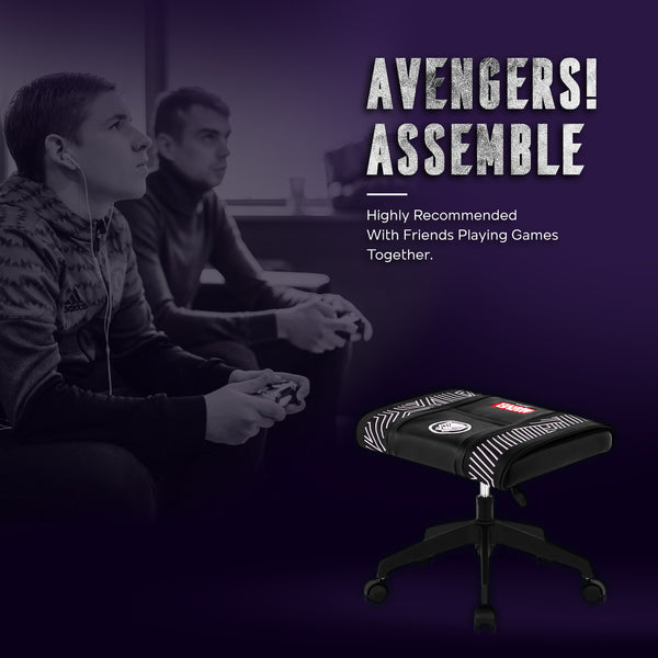 Black Panther Stool With Wheels - CRC