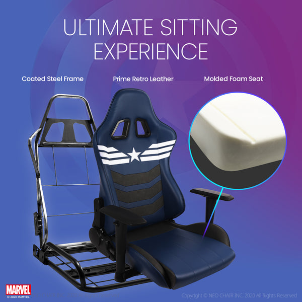 New ARC-R Captain America- Marvel Gaming Chair - Massage