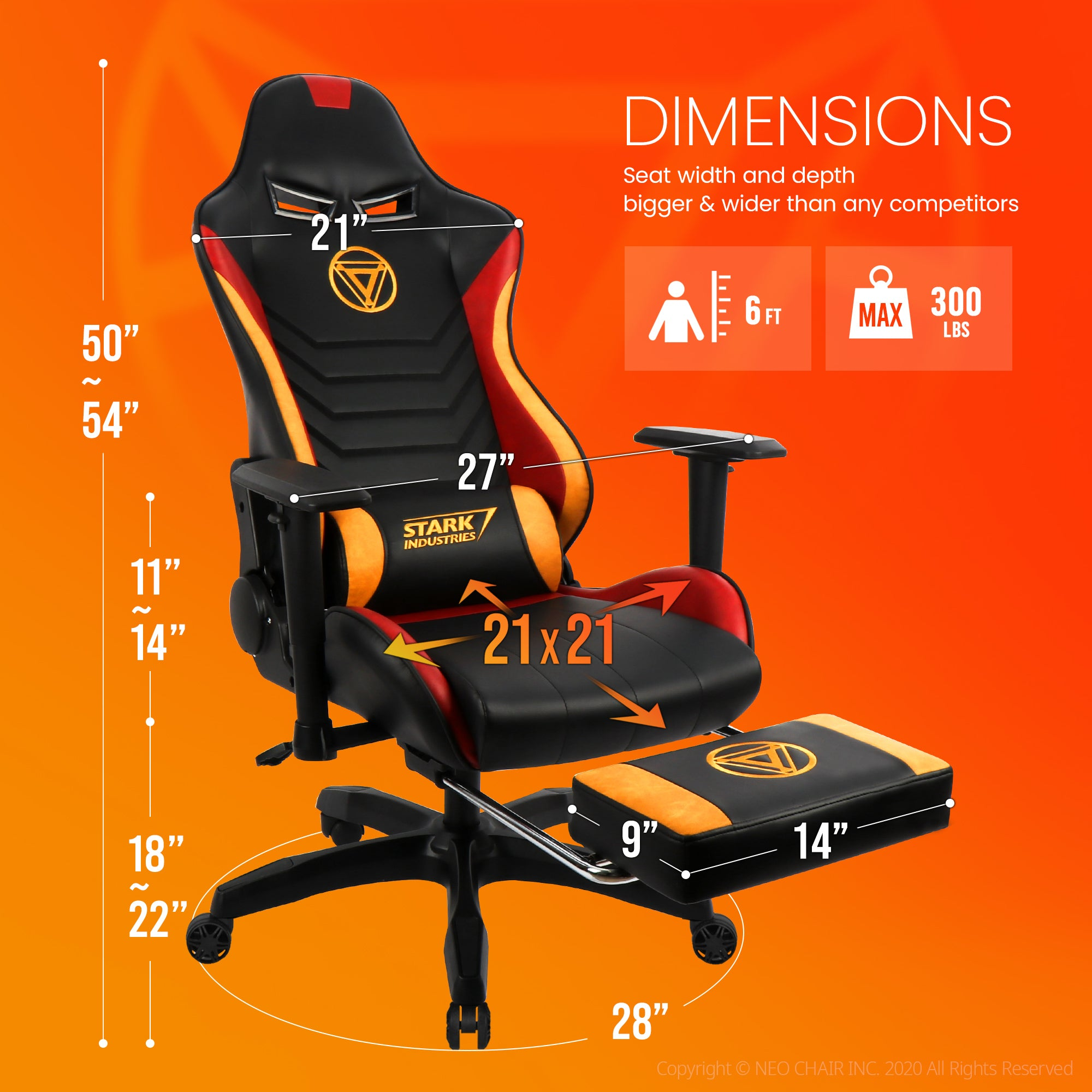 Iron Man Gaming Chair - New ARC-R