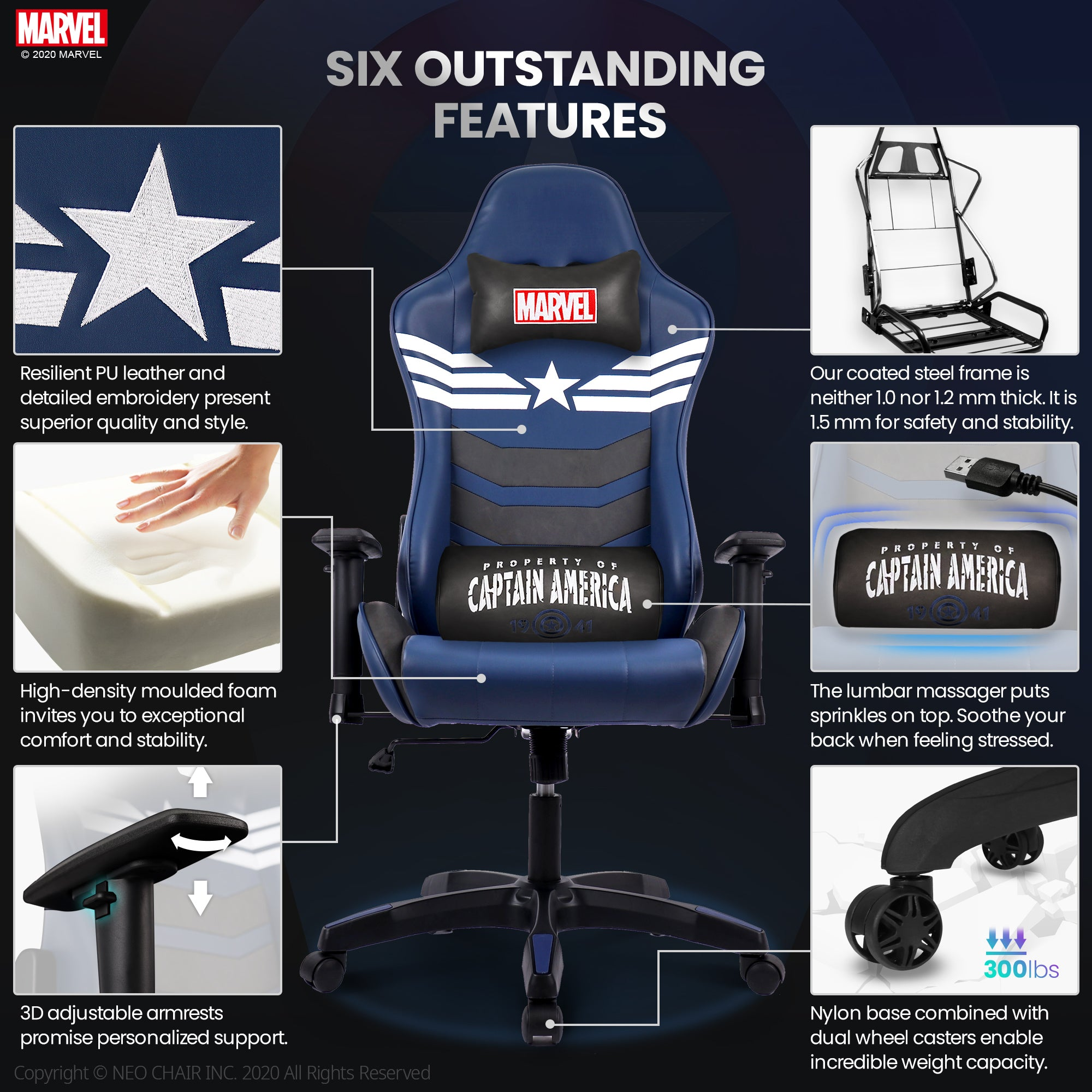 Captain America Gaming Chair - ARC
