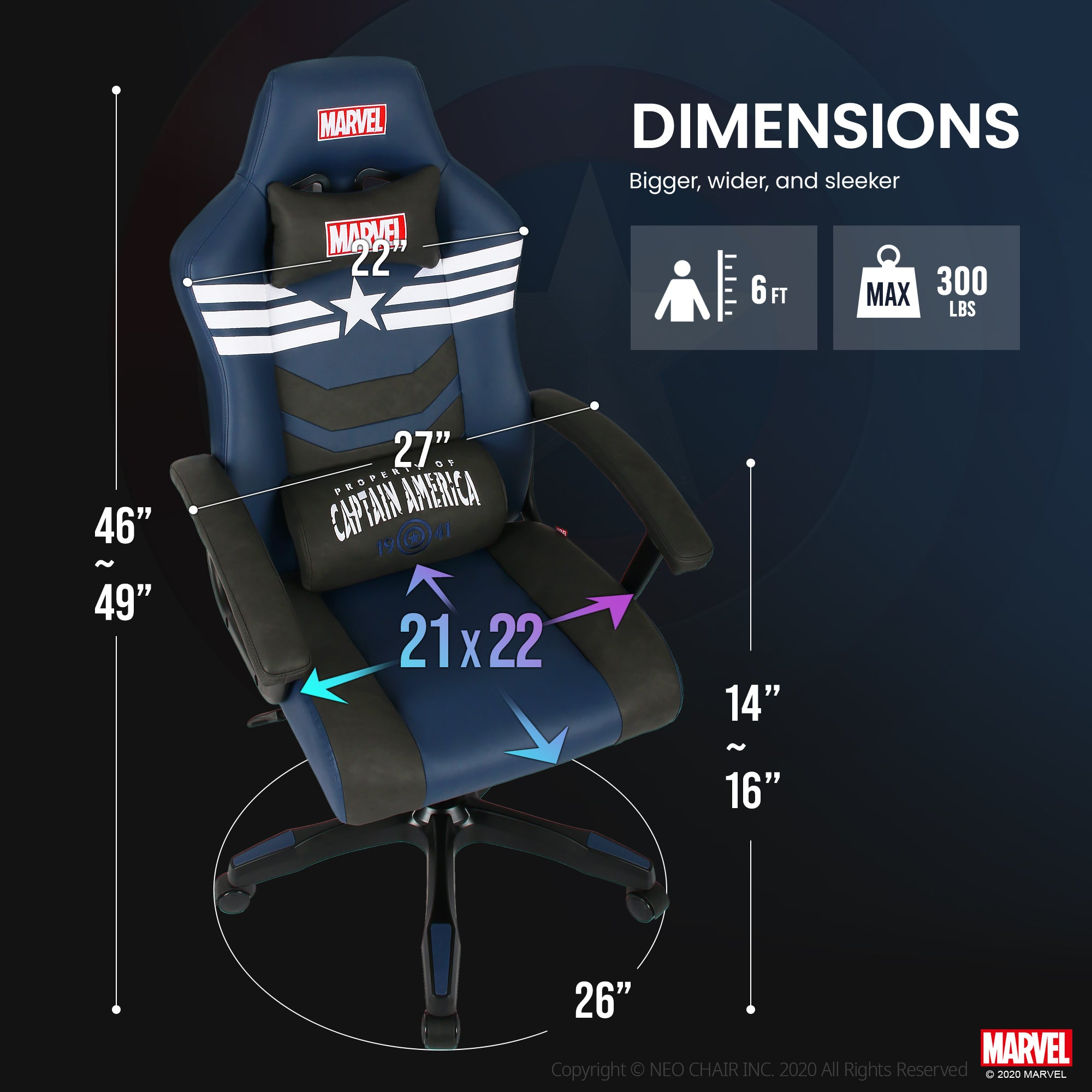 Captain America Gaming Chair - New CRC-M