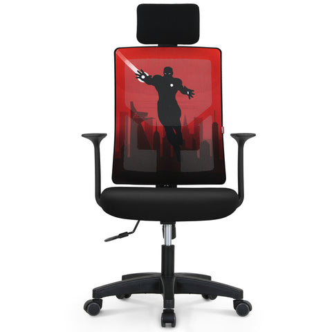 Iron Man Desk Chair With Headrest - M10H