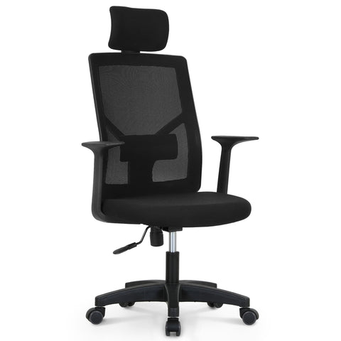 Office Chair With Headrest - M10H Black