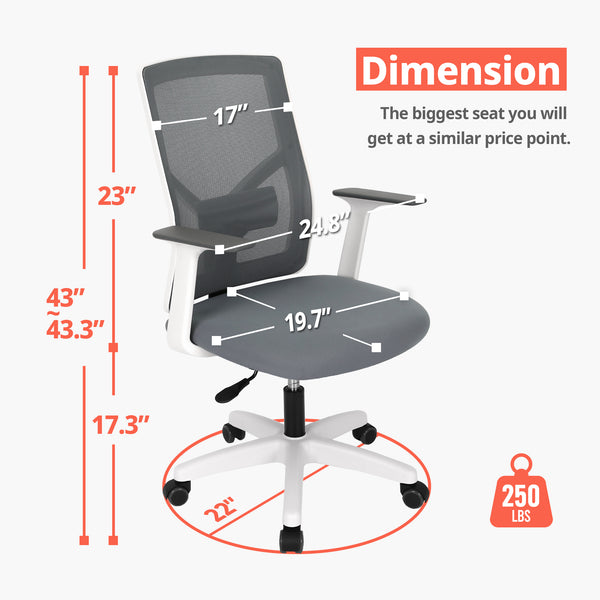 M10 Grey- Office Chair (Basic)