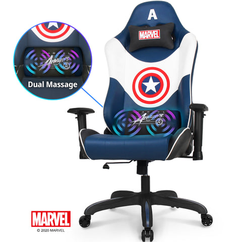New RAP-M Captain America- Marvel Gaming Chair - Massage