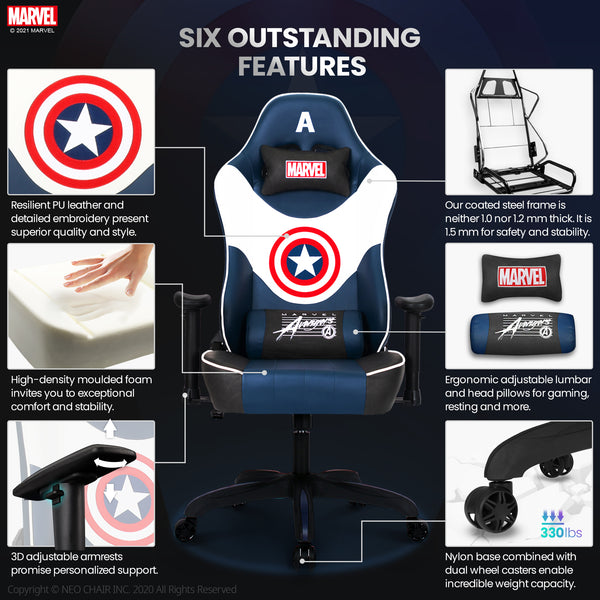 Captain America Gaming Chair - G-RAP-M