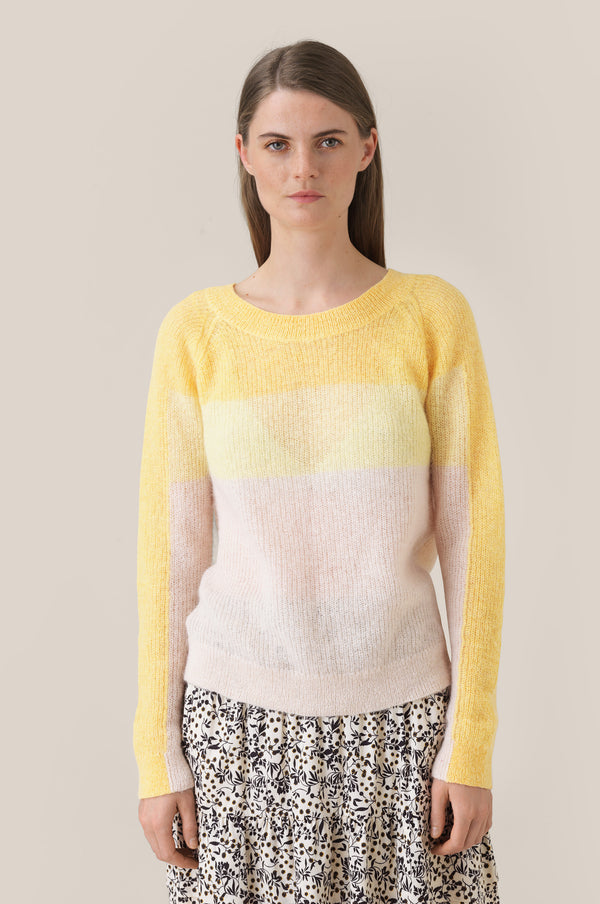 Seline Knit Raglan O-Neck