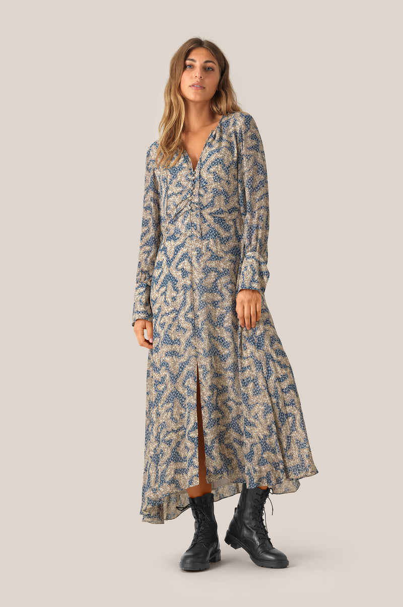 Wildly LS Midi Dress