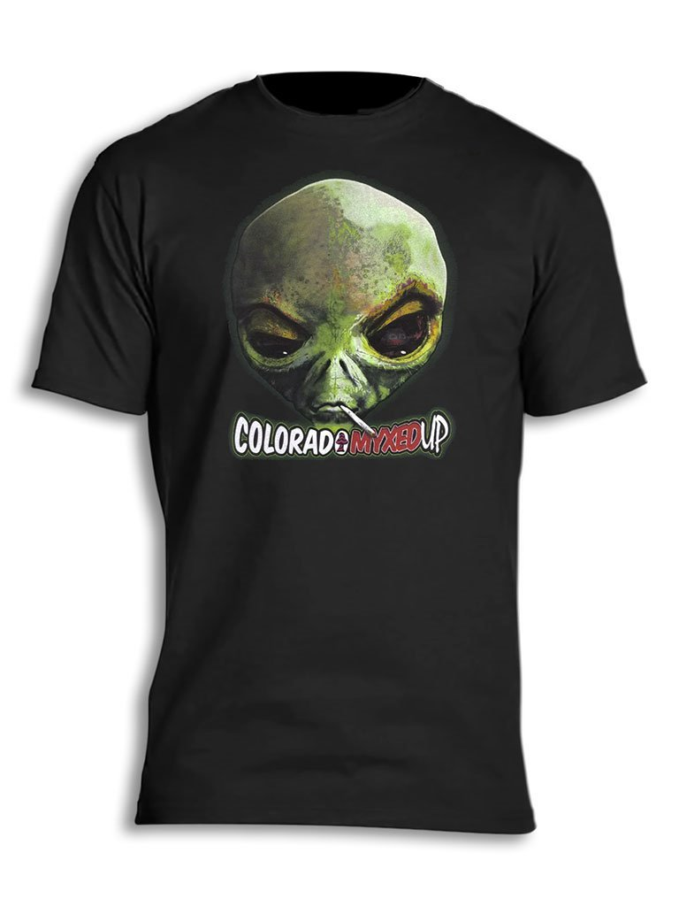 Alien Smoking Joint Myxed Up T-Shirt