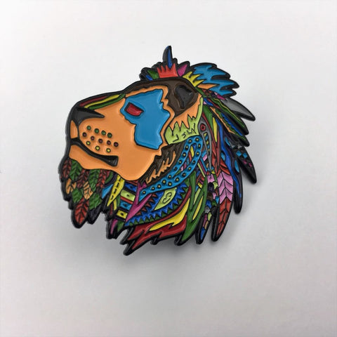 Dabbin Dan Lion Of Jah Native Son Hat Pin