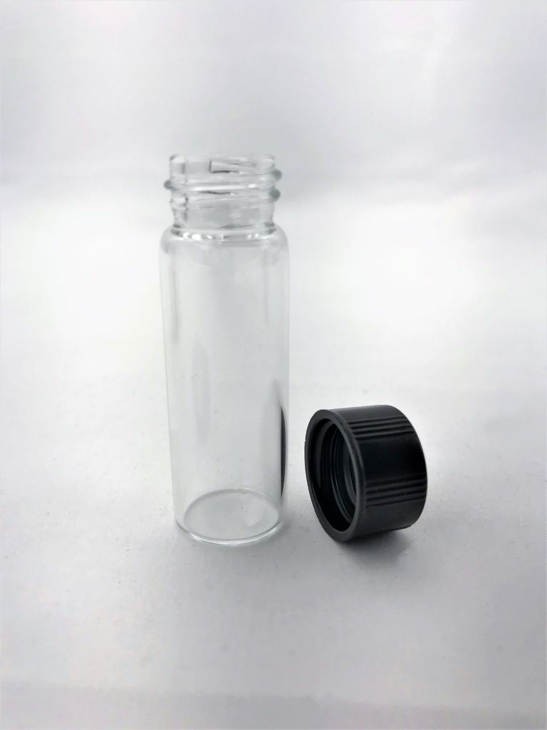 Glass Vial Container With Lid Large