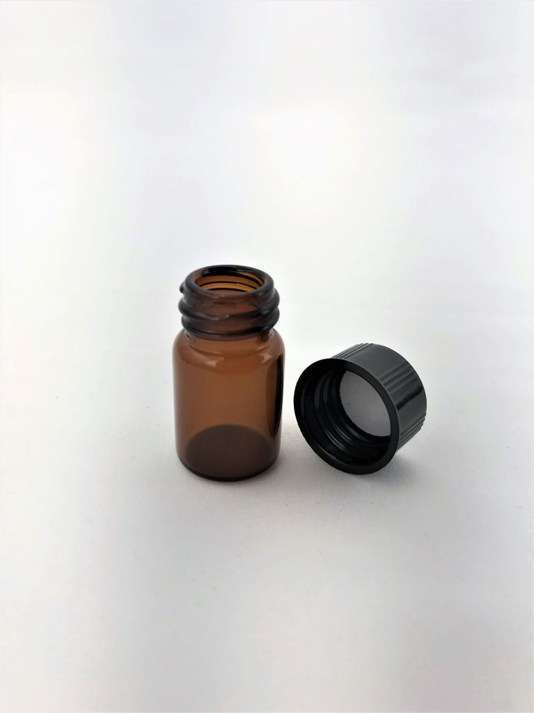 Glass Vial Container With Lid Medium