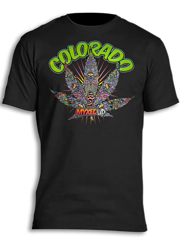 All-Seeing Pot Leaf Myxed Up T-Shirt