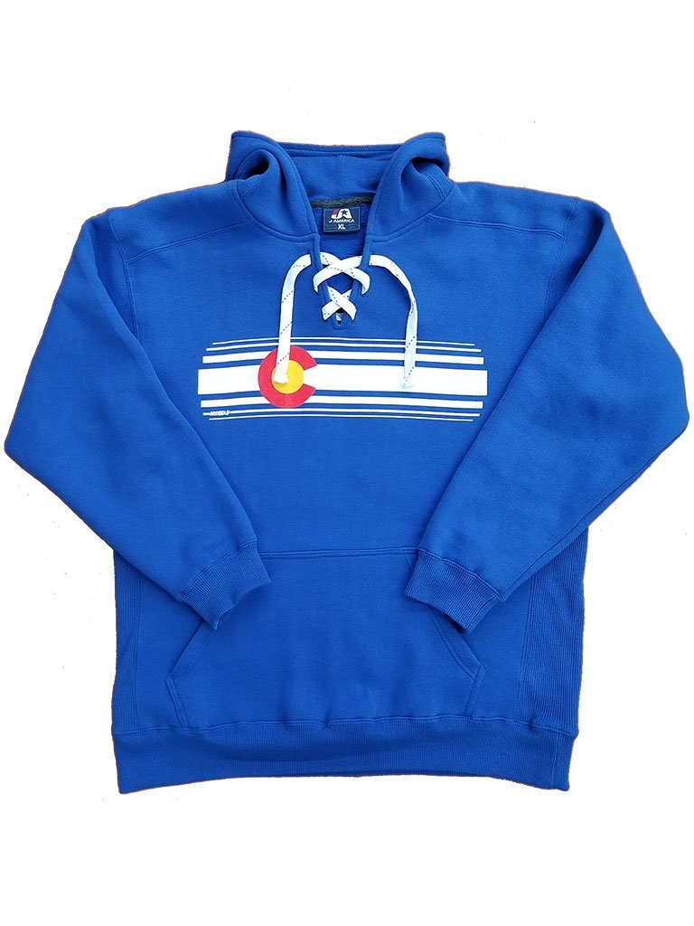 Colorado Flag Stripe Myxed Up Sport Lace Hoodie