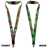 Pot Leaf Honeycomb Myxed Up Creations Lanyard