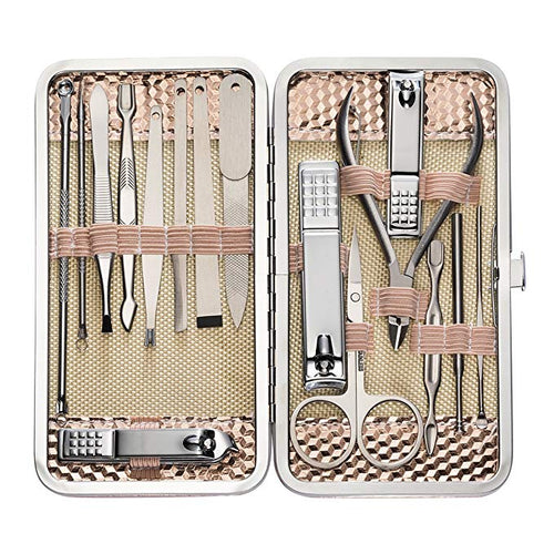 16 Pcs Nail Clippers Set Pedicure Kit