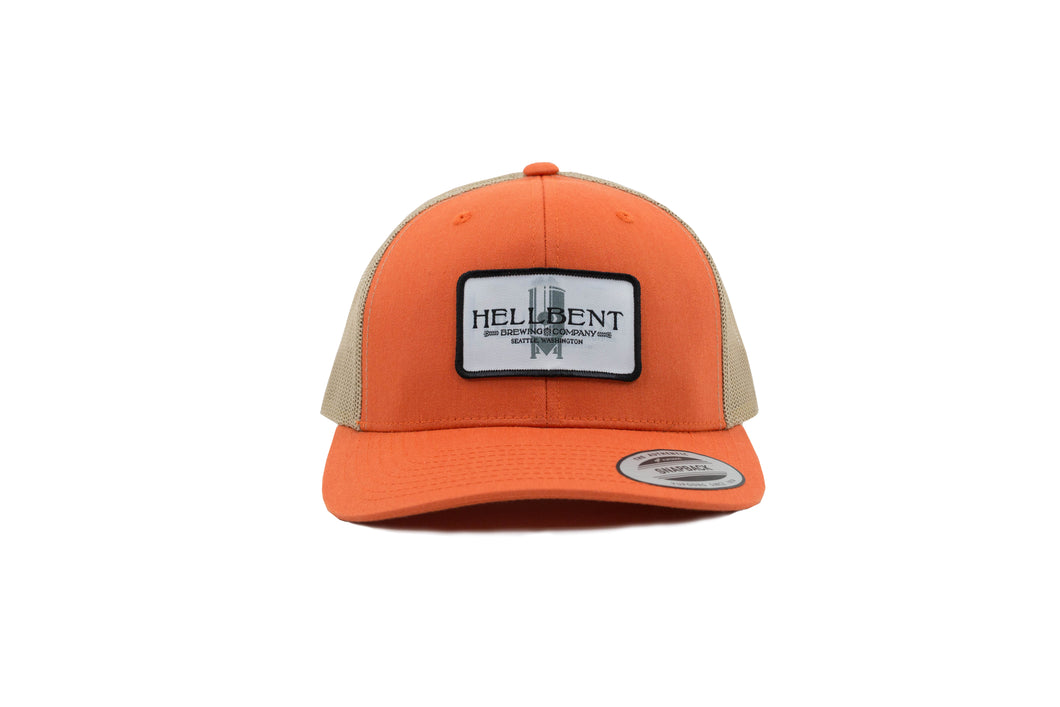 Orange and Tan Trucker Hat