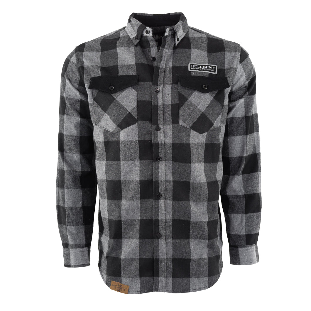 Men's Black and White Flannel