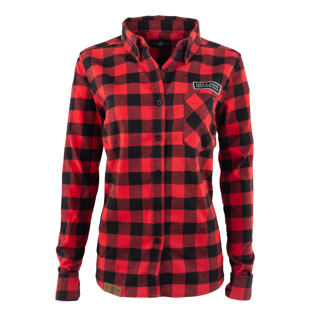 Women's Red and Black Flannel