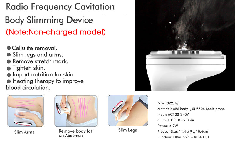 Portable Ultrasonic Cavitation Body Slimming  EMS Muscle Stimulation Device - SkinGenics ™ Online Shop