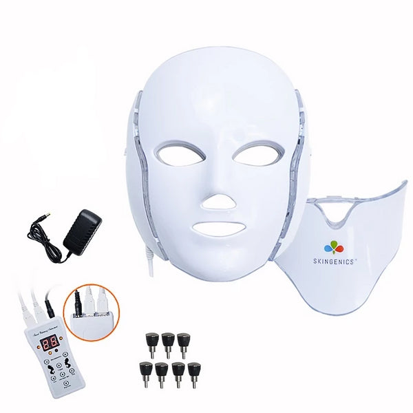 Galvanic LED Light Photon Therapy Face Mask - SkinGenics ™ Online Shop