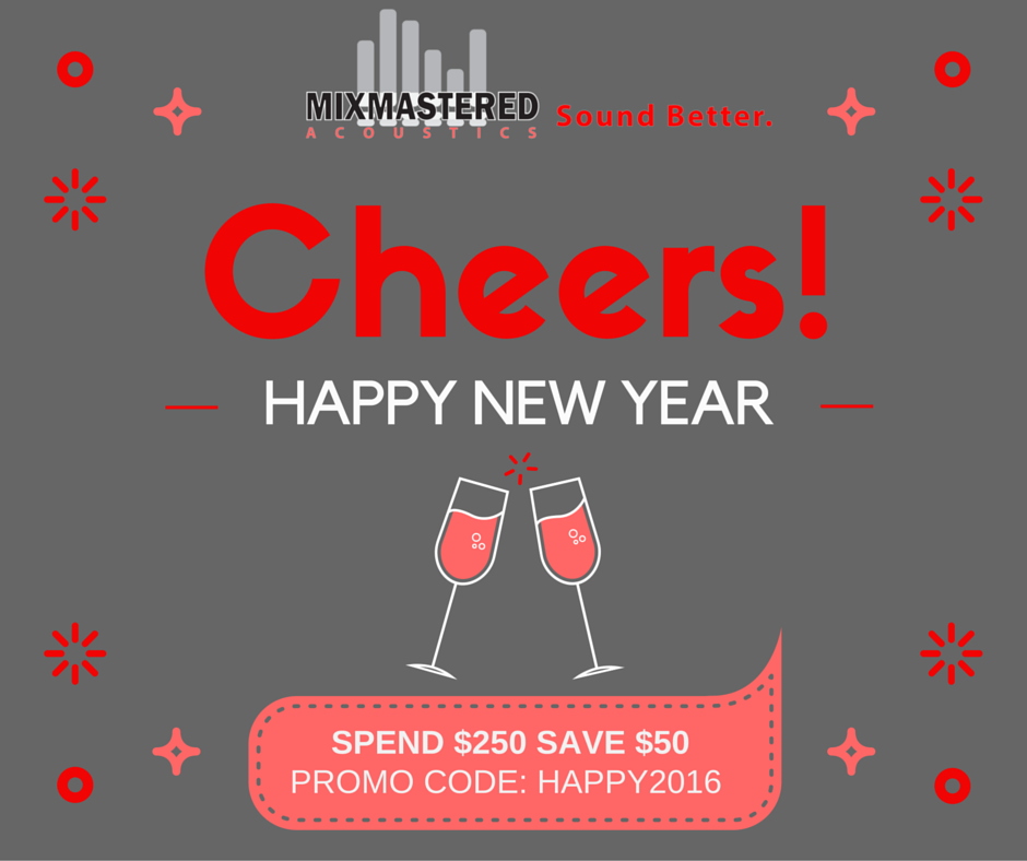 Happy New Years... Save $50 on Acoustic Panels