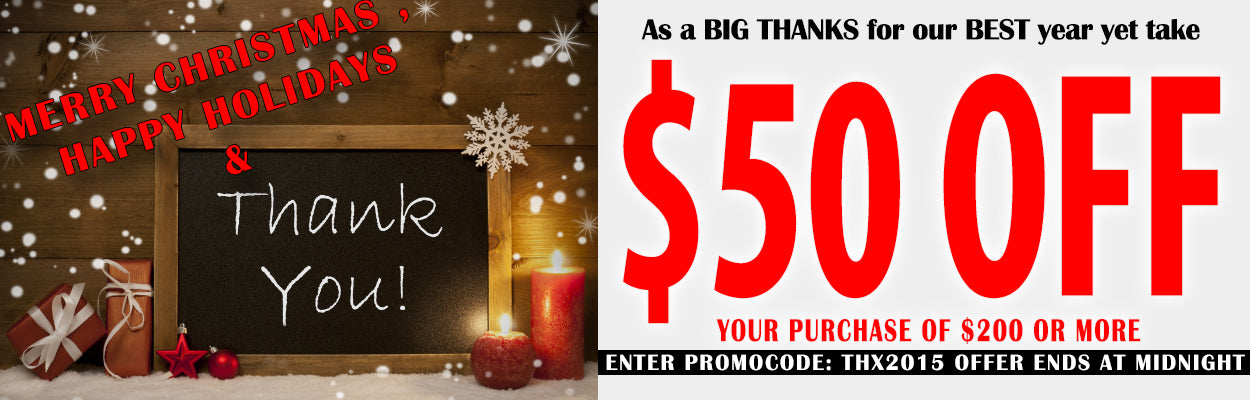 Our Gift to YOU! $50 OFF Your Order of ANY Acoustical Sound Treatments: Bass Traps, Framed Acoustic Sound Panels, Acoustic Sound Diffusers and more