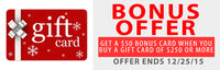$50 Bonus Gift Card Good For ANY Acoustic Panel, Acoustic Art Panels, Bass Trap or Acoustic Diffusers