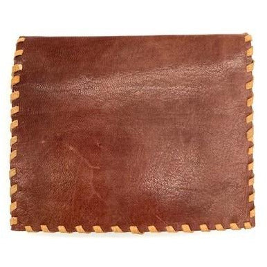 Leather Folding Credit Card Wallet - Brown